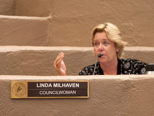Scottsdale Councilwoman Linda Milhaven withdrew her