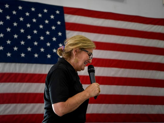 U.S. Rep. Diane Black speaks to her supporters at a