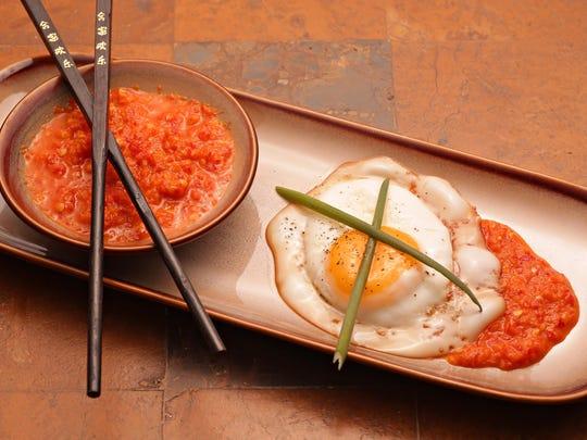 South East Asian Sambal with a sunny egg.