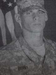 Private Jacob Berry, son of Mike and Michelle Berry