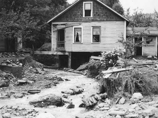 A cottage on Floral Avenue in July 1935. The storm brought $1.5 million of damage to Ithaca. Adjusting for inflation, the 2015 cost would be $27 million.