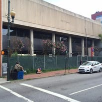 The former Bank of America building in downtown Asheville is for sale.