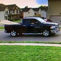Police are looking for information related to a construction site on the 200 block of McManus Circle. The two suspects drove this truck.