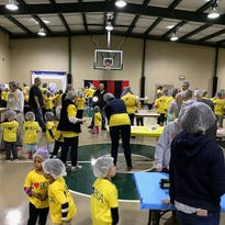 Bridgeway Christian students pack 10,000 meals for hungry children