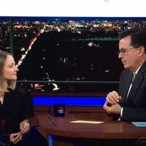 Packers fan Jodie Foster tells Stephen Colbert she 'loves the Cheeseheads'