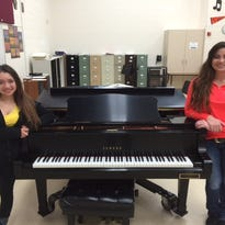 """Maria Reber, left, and Andrianna Meadows, students at Horace Mann High School in North Fond du Lac, were selected from over 1,600 applicants throughout the state of Wisconsin to be part of the 150 member Wisconsin School Music Association (WSMA) Honors Choir. They will be working with esteemed collegiate choral directors throughout the country preparing and performing two concerts. Maria was selected to be a member of the Mixed Honors Choir and Andrianna as a member of the Treble Honors Choir. The first performance is a warm-up in June at the Weidner Center in Green Bay and the second is a formal performance in October at the Overture Center in Madison. Choral Director Anthony Rasmussen stated, """"We are very fortunate to have such outstanding musicians representing our District and community, continuing to shine at their craft."""" This is Andrianna's second consecutive year of receiving this great honor. North Fond du Lac Music Parents donated funds to cover full tuition for both students."""