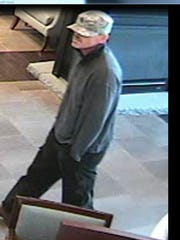 The suspect in the bank robbery Friday.