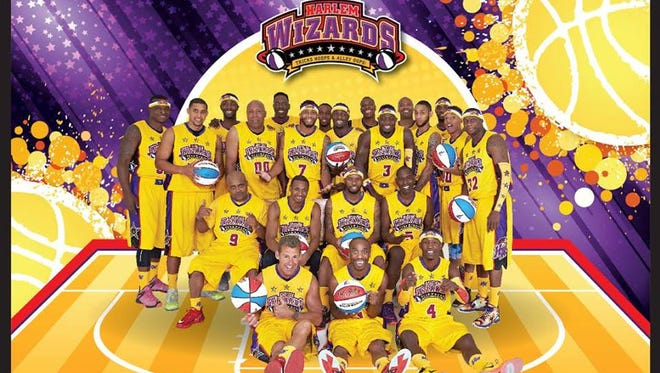 The Harlem Wizards take on the Augusta County All-Stars at Wilson Memorial High School on March 22.