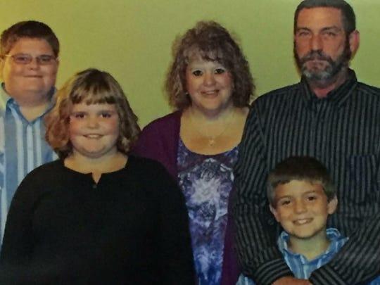 Back row, from left: Bobby Baker, Renea Baker and Sam Baker. Front row, from left: Breanne Baker and Willie Baker.