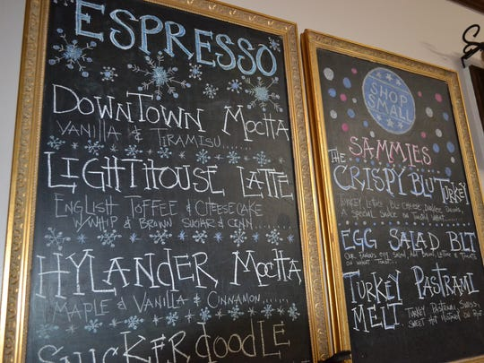 Coffee Express offers a wide variety of specialty coffees and unique sandwiches.