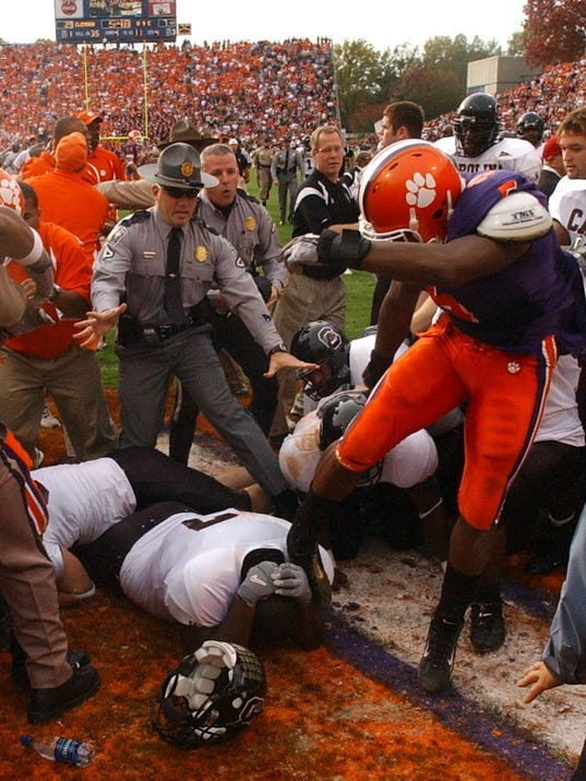 South Carolina-Clemson brawl