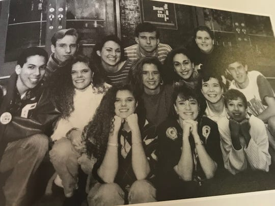 Ashley Estes Kavanaugh, third from the left on the center row, is pictured with friends in her English class in the 1993 Cooper High School yearbook. Estes was a senior that year.