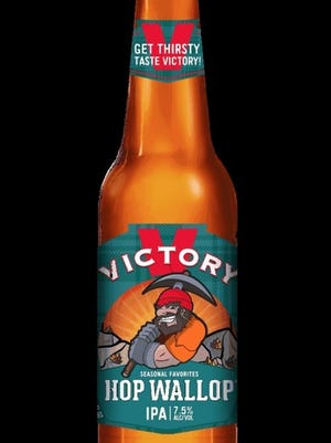 Victory Hop Wallop, an earthy, dank, slightly fruity American IPA. 7.5 percent ABV.