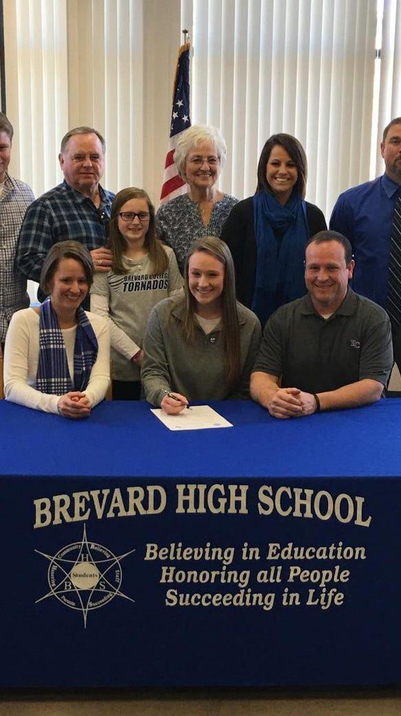 Brevard senior Hannah Jenkins has signed to play volleyball