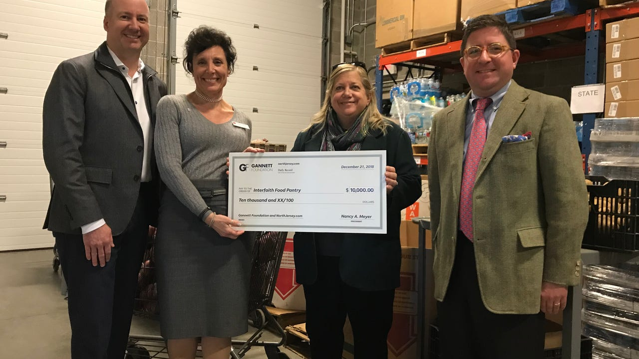 The Interfaith Food Pantry of Morris County received a $10,000 donation from the Gannett Foundation. IPHONE VIDEO BY WILLIAM WESTHOVEN DEC. 21, 2017