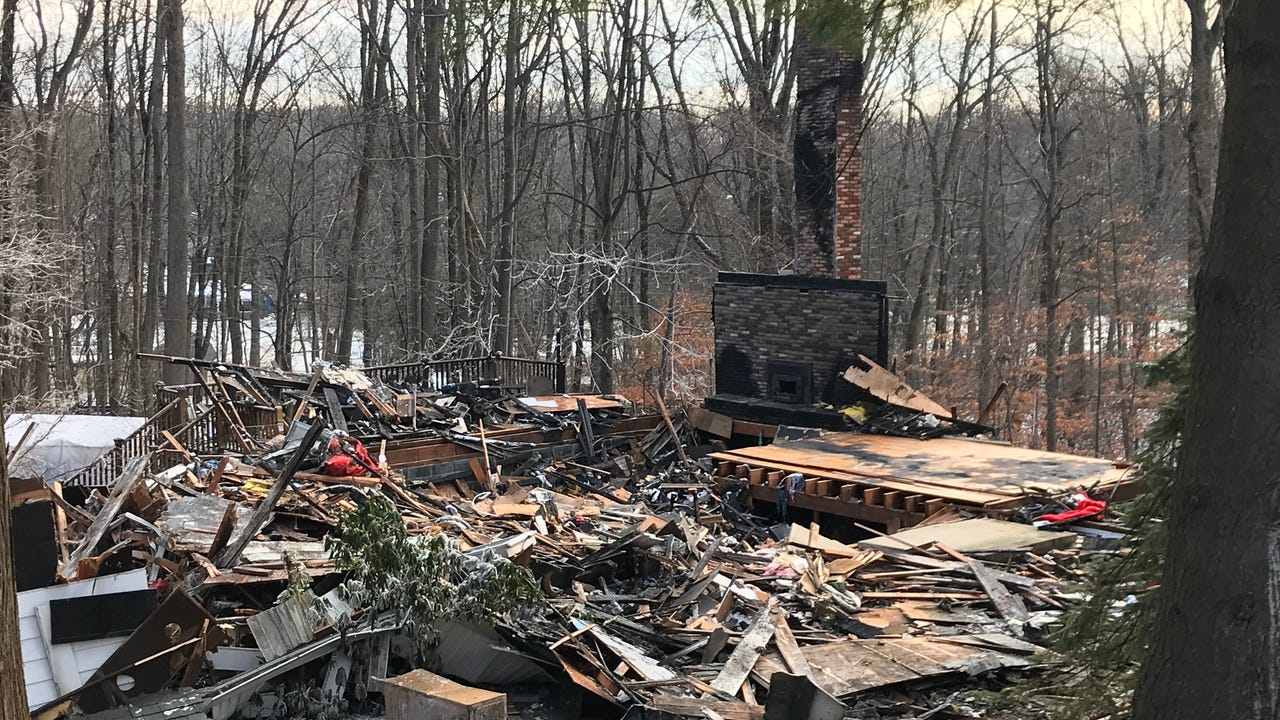 A Parsippany couple lost their home on Christmas night when a fire broke out there while they were visiting family.