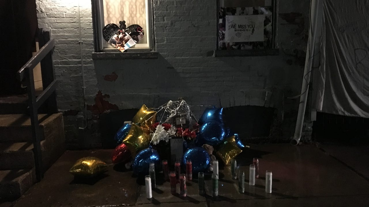 Matthew Bell was killed in York on Feb. 12. On Thursday, Feb. 15, dozens of people gathered in the rain outside the Penn Street home where he was killed to remember him.