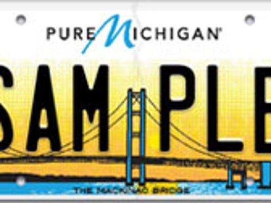 New Michigan license plate Mackinac Bridge