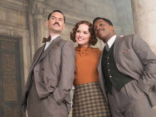 """Manuel Garcia-Rulfo (from left), Daisy Ridley and Leslie Odom Jr. are among the all-star passengers in """"Murder on the Orient Express."""""""