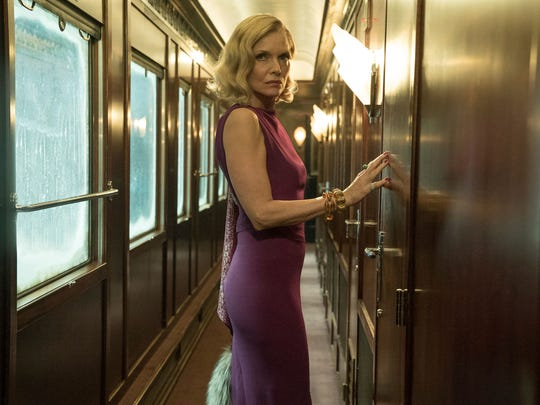 "Michelle Pfeiffer appears in a scene from, ""Murder on the Orient Express."""