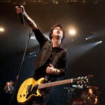 Billy Joe Armstrong performs during a Green Day concert at the Barclays Center, in New York. The punk trio is part of the 2015 class of inductees into the Rock and Roll Hall of Fame.