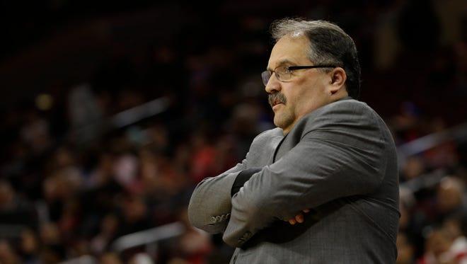 Detroit Pistons' Stan Van Gundy.