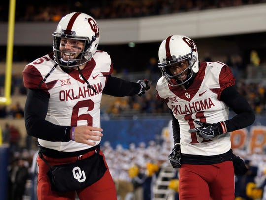 Oklahoma wide receiver Dede Westbrook, a first-team All-American, and quarterback Baker Mayfield, a second-team All-American, are both Heisman finalists after helping the Sooners recover from a 1-2 start.