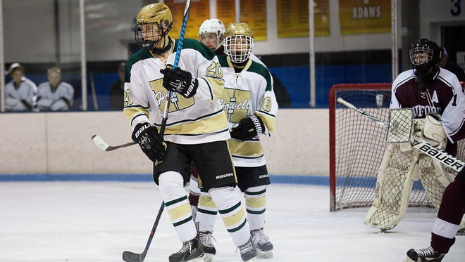 Austin Kantola (20) had a goal and three assists for Howell in a 6-1 victory over Milford.