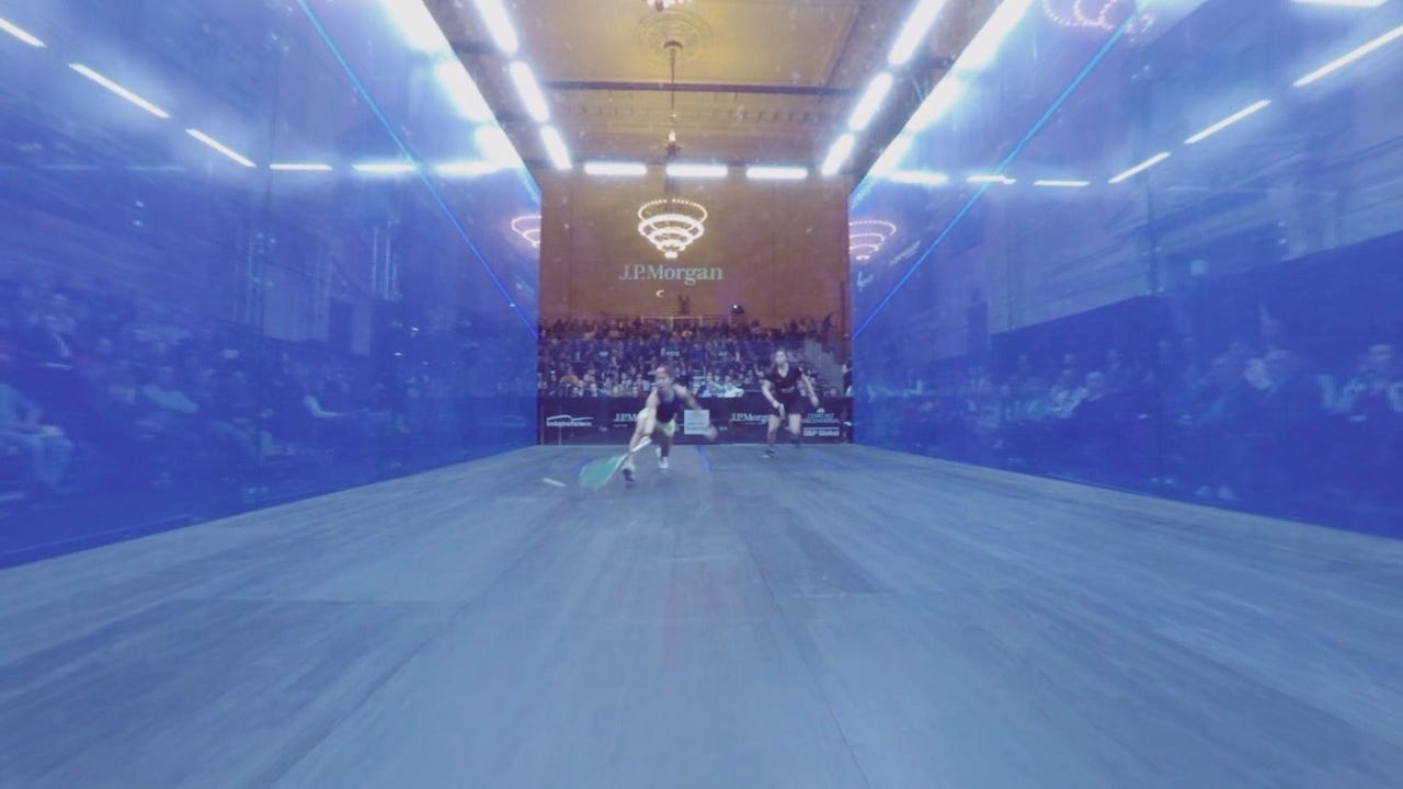 VR: See why squash is one of the world's fastest sports