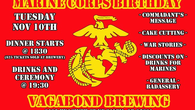 Vagabond Brewing is celebrating the 240th birthday of the Marine Corps.