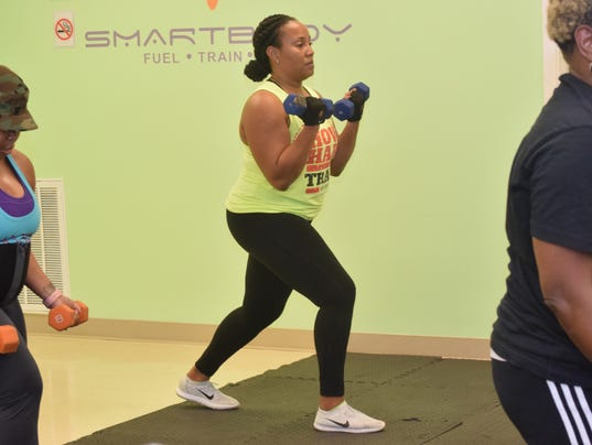 """What I like about working out with Steven is you get the full-body workout,"" said Kellye Johnson, 33, about the S.W.E.A.T. class led by Steve Ranel, owner of 300 Fitness. ""You get the whole experience."" S.W.E.A.T., which stands for ""Strengthening While Enduring Anaerobic Training,"" is mainly for introducing people to fitness. S.W.E.A.T. is held at 6:30 p.m. on Tuesday. There is no commitment to sign up for a certain number of classes. The drop-in rate is $10 per class."