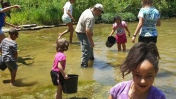 Exploring the creek at Haven of Hope with  Sean Godbold