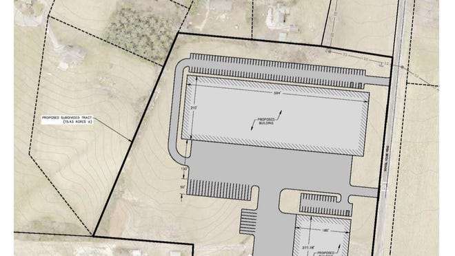 Site plan for