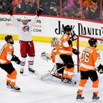 Blue Jackets down Flyers to set new wins, points mark
