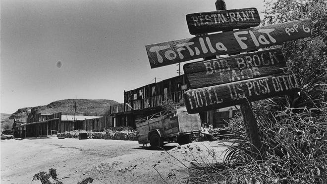 Tortilla Flat was once a popular stagecoach stop on the Apache Trail.