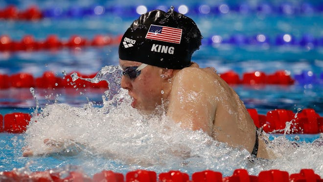 Lilly King of the United States competes in the Mixed 4x50m Medley Relay final on day three of the 13th FINA World Swimming Championships (25m) at the WFCU Centre on Dec. 8, 2016 in Windsor Ontario, Canada.