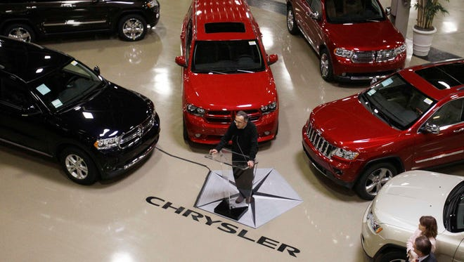 Chrysler Group CEO Sergio Marchionne addresses the media at the automaker's Jefferson North Assembly Plant in Detroit