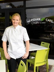 Chef Raena Hobson is in charge in the kitchen at Meridian