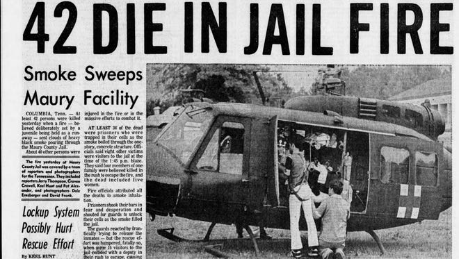 Forty-two people were killed in a fire at the Maury County Jail on June 26, 1977.