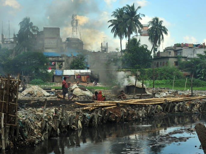 The Hazaribagh area of Dhaka in Bangladesh is among one of the world's 10 most polluted places, according to a 2013 report released by the Blacksmith Institute and Green Cross.The report reveals the progress of these areas in terms of pollution.