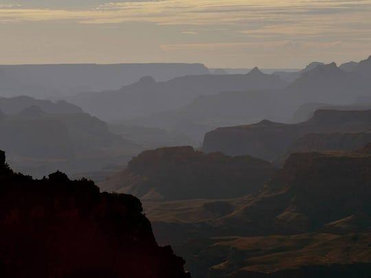 The Grand Canyon South Rim.