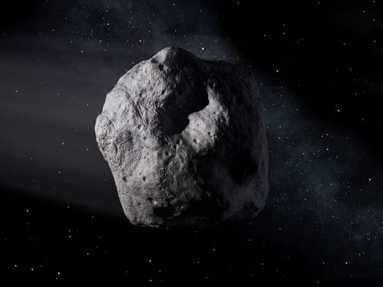 Artist's conception of a near-Earth object.