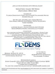 A copy of an invitation to a Florida Democratic Party