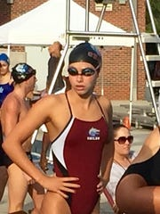 Chiles sophomore Stephanie Holmes had a strong day in the 200 and 500 freestyle events in a meet Tuesday at Morcom Aquatic Center.