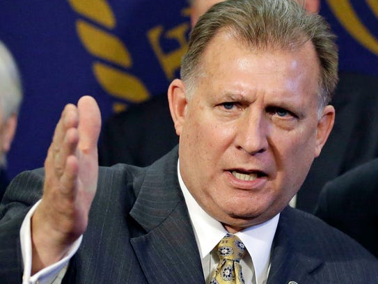 In this March 2, 2014, file photo, Sen. Curt Bramble,