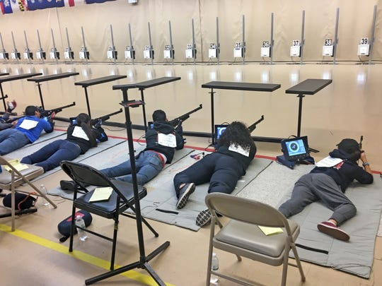 The West Oso shooters compete with sporter air rifles, a class of target rifles widely used in junior competitions sanctioned by the Civilian Marksmanship Program.