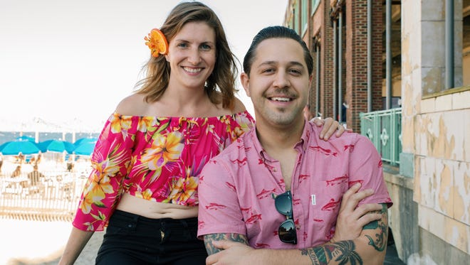 Magdalena O'Connell and Vincent Minervino are the couple behind the Asbury Park Surf Music Festival.