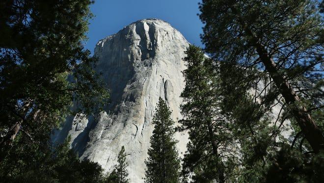 El Capitan in Yosemite National Park, seen on Aug. 25, 2015.