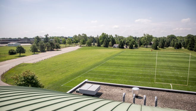 A practice field to the south of Scheumann Stadium is one possible location for an indoor practice facility, according to renderings in Ball State's master plan. There are just two Mid-American Conference schools without such a facility.
