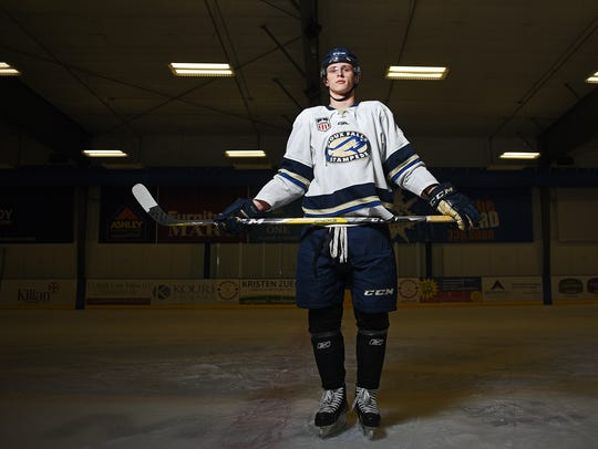 The Sioux Falls Stampede's Jaxon Nelson, 17, of Magnolia,
